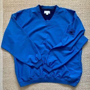 Blue Cutter & Buck WindTec V-Neck Light Jacket